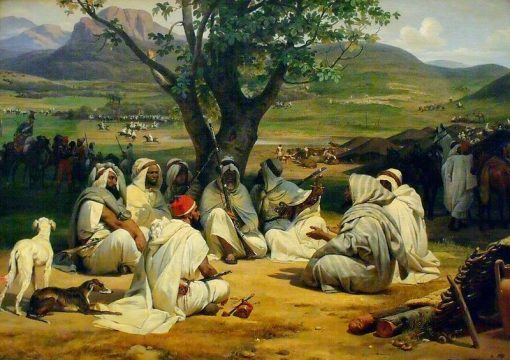 Arab Chieftans in Council(also known as The Envoy) | Horace Vernet | Oil Painting