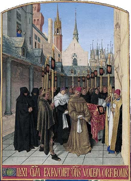 Heures d'Étienne Chevalier ~ The Funeral of Etienne Chevalier | Jean Fouquet | Oil Painting