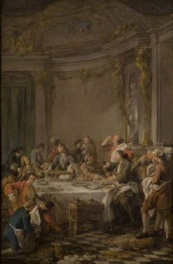 The Oyster Dinner | Jean Francois de Troy | Oil Painting