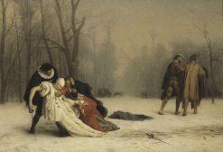 Suite d'un bal masqué (Duel after the Masquerade) | Jean LEon GErôme | Oil Painting