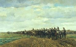 Les cuirassiers avant la charge | Jean Louis Ernest Meissonier | Oil Painting