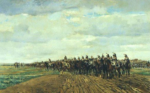 Les cuirassiers avant la charge   Jean Louis Ernest Meissonier   Oil Painting