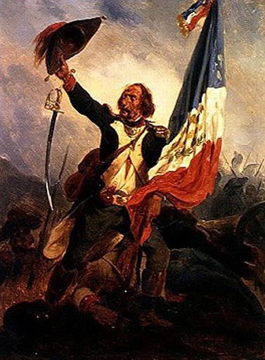 Carrying the Flag of the Republic | Joseph Louis Hippolyte BellangE | Oil Painting