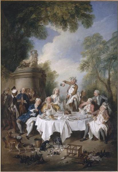 Le déjeuner de jambon | Nicolas Lancret | Oil Painting