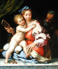 The Holy Family | Perino del Vaga | Oil Painting