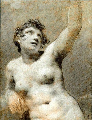 Study: Naked Female | Pierre Paul Prud'hon | Oil Painting