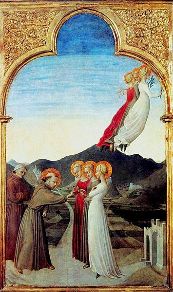 Marriage of Saint Francis and Lady Poverty(also known as Le mariage mystique) | Sassetta | Oil Painting