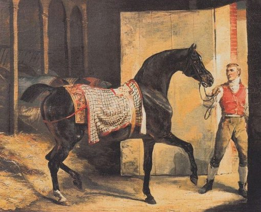 Cheval sortant de l'écurie (Horse leaving the Stable) | ThEodore GEricault | Oil Painting