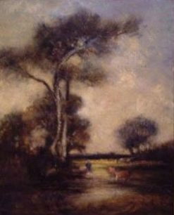 Le vieux chêne a l'abreuvoir apres 1880 (The Old Oak at the Watering Place after 1880) | Jules DuprE | Oil Painting