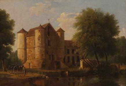 Le chateau de la Reine-Blanche aux étangs de Commelles (The Chateau of Reine-Blanche) | Jean Victor Bertin | Oil Painting