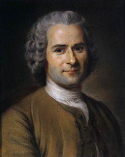 Portrait of Jean-Jacques Rousseau | Maurice Quentin de La Tour | Oil Painting