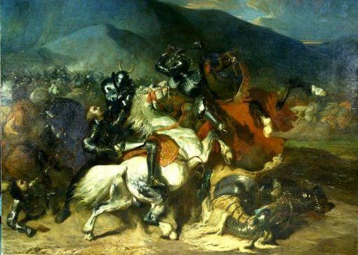 La bataille de Beaugé 22 Mars 1421 | Alfred de Dreux | Oil Painting
