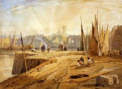 View of the Port of Dieppe | Richard Parkes Bonington | Oil Painting