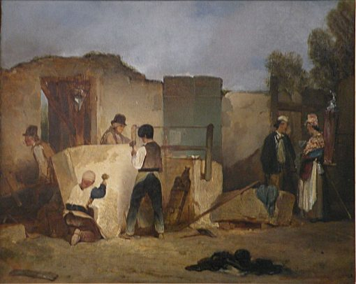 The Stone Masons | Alexandre Gabriel Decamps | Oil Painting