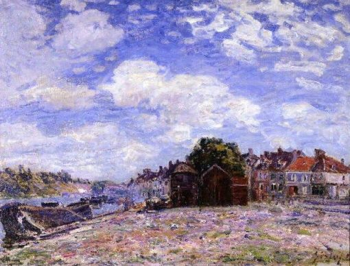 Le Loing a Saint-Mammes | Alfred Sisley | Oil Painting