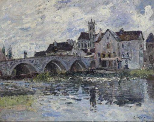 Le pont de Moret (The Moret Bridge)   Alfred Sisley   Oil Painting