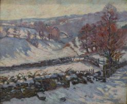 Paysage de neige a Crozant | Armand Guillaumin | Oil Painting
