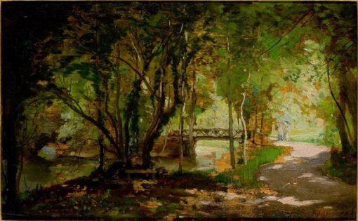 Pool Beneath Trees | Charles Francois Daubigny | Oil Painting