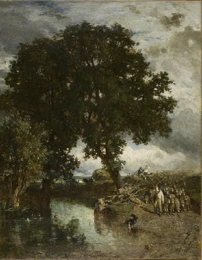 A Flock of Sheep in the District of Sezanne | Constant Troyon | Oil Painting