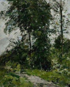 Arbre vert - l'allée | Eugene Louis Boudin | Oil Painting