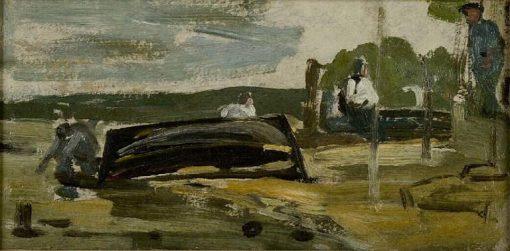Barque en réparation | Eugene Louis Boudin | Oil Painting