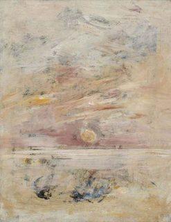 Coucher du soleil au bord de la mer | Eugene Louis Boudin | Oil Painting