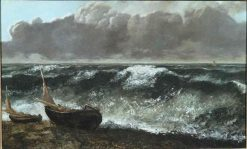 La vague (The Wave) | Gustave Courbet | Oil Painting