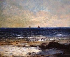 Les bords de la mer a Palavas | Gustave Courbet | Oil Painting