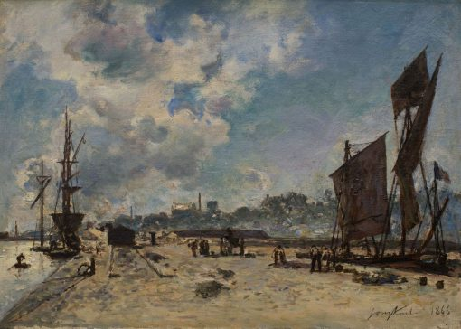 Quay at Honfleur | Johan Barthold Jongkind | Oil Painting