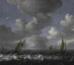 Seascape: Fishing Boats | Ludolf Backhuysen | Oil Painting
