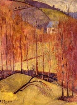 La colline aus peupliers | Paul SErusier | Oil Painting