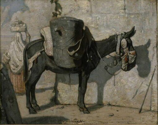Donkey in the Desert | Alexandre Gabriel Decamps | Oil Painting