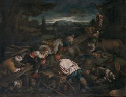 Construction of an Arch | Francesco Bassano the Younger | Oil Painting