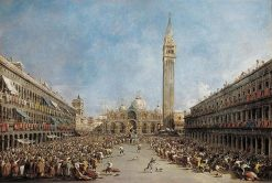 The Doge of Venice is Carried by Gondoliers following His Election | Francesco Guardi | Oil Painting