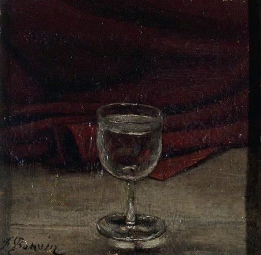 Le Verre d'eau   Francois Bonvin   Oil Painting