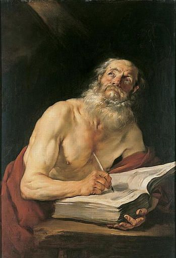 Saint Jerome Writing   Jacques Blanchard   Oil Painting