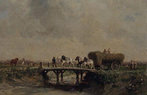 La fenaison | Jules Jacques Veyrassat | Oil Painting