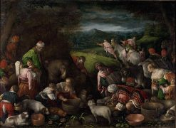 Departure for Cana   Leandro Bassano   Oil Painting