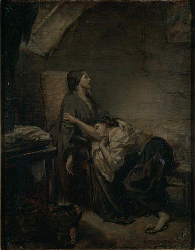 Une famille malheureuse (An Unhappy Family) | Octave Tassaert | Oil Painting