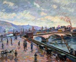 The Seine at Rouen | Armand Guillaumin | Oil Painting