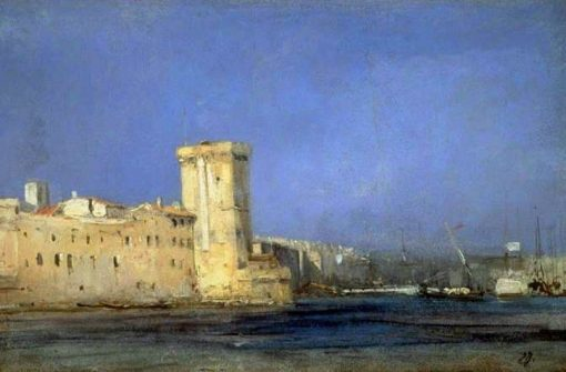 Fort by the Sea   Eugene Isabey   Oil Painting