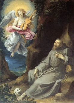 St Francis Consoled by an Angel | Giuseppe Cesari | Oil Painting