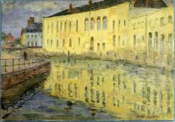 Pale Buildings Reflected in the Canal | Henri Duhem | Oil Painting