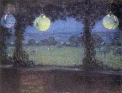 Lamps under an Arbour | Henri Le Sidaner | Oil Painting