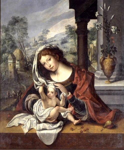 Virgin with the Veil | Jan Gossaert | Oil Painting