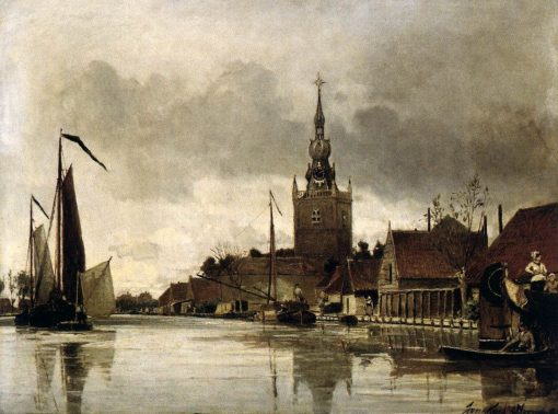 View of Overschie | Johan Barthold Jongkind | Oil Painting