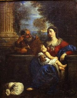 The Holy Family Resting | Pier Francesco Mola | Oil Painting