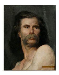 Portrait of a Man called Vercingétorix | Jules Bastien Lepage | Oil Painting