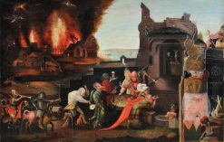 The Temptation of Saint Anthony (after Hieronymus Bosch) | Herri met de Bles | Oil Painting