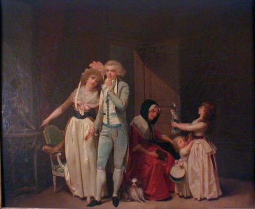 Ce qui allume l'Amour l'éteint(also known as The Philosopher) | Louis LEopold Boilly | Oil Painting